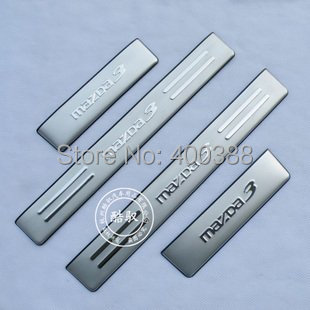 Free Shipping 2010-2012 Mazda 3 High quality stainless steel Scuff Plate/Door Sill