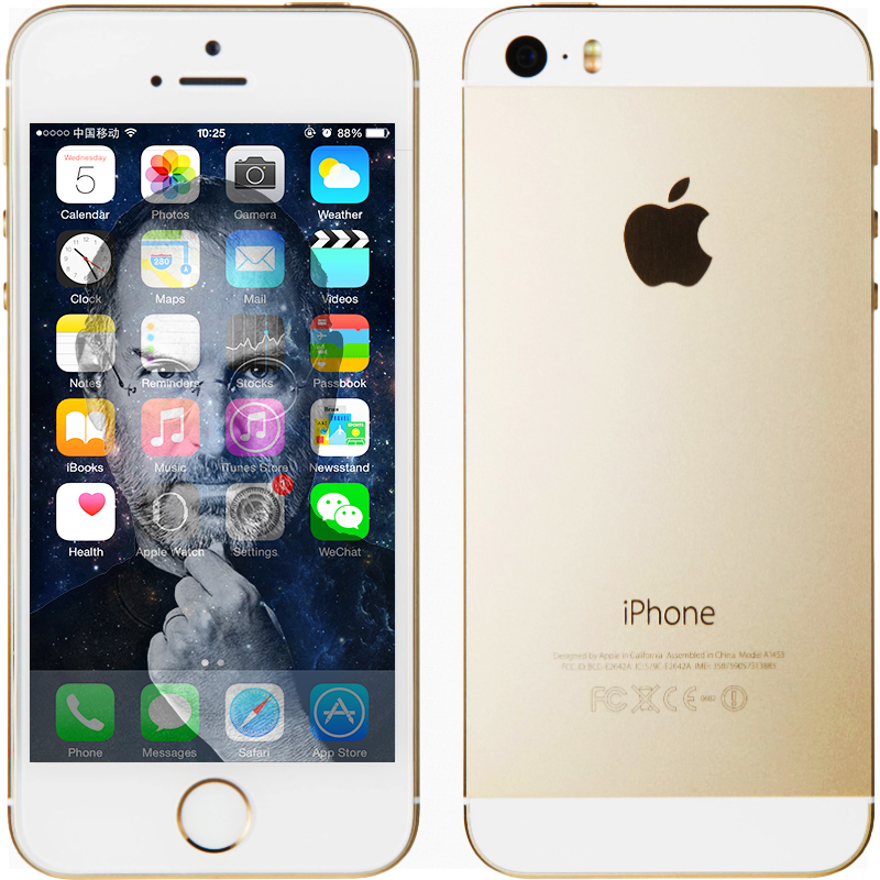 "Original Apple iPhone 5S Unlocked IOS 8 Dual Core Smart Phone 16GB/32GB 4.0""IPS 8MP WIFI GPS SIRI WCDMA 3G Mobile Phone USED(China (Mainland))"