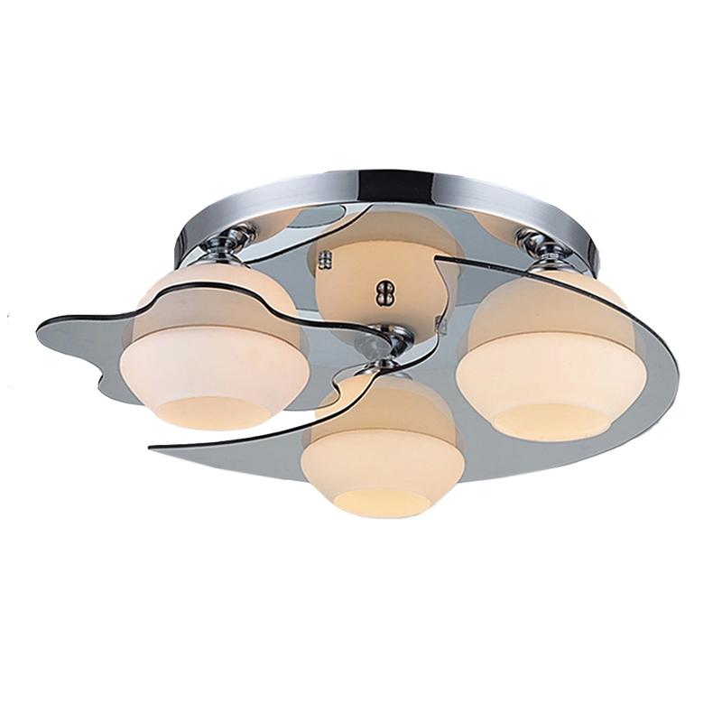 Купить Ecolight Современный Потолочный Светильник E26 E27 3 Свет Матовый Никель Акриловое Стекло Заподлицо для Гостиной Спальня Прихожая