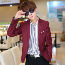 2015 blazer male suit blazer jacket male