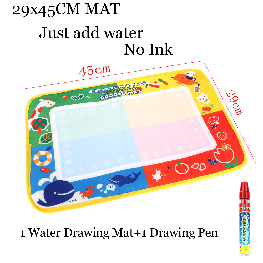 45 * 29cm Multicolour Drawing Board + Drawing Pen Kids Water Drawing Toys Mat Aqua Doodle Educational toys for children painting(China (Mainland))