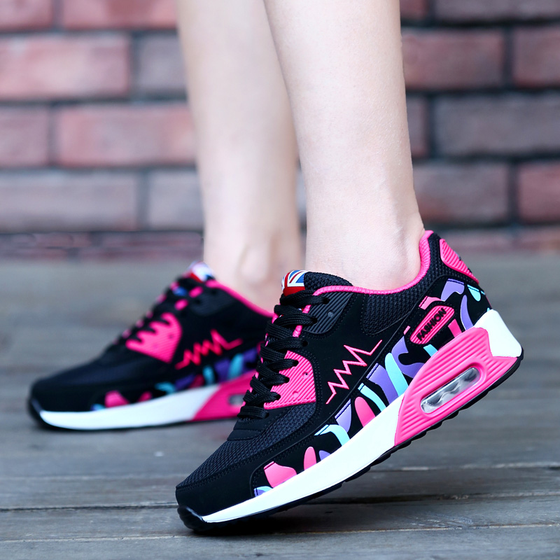 Casual Shoes Fashion Air Basket Sport Nice Shoe For Women Spring Summer Outdoor gym Jogging Breathable Fabric 2016 Brand New(China (Mainland))