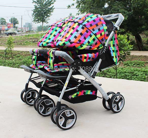 Baby-carriage-Twins-stroller-double-stroller-super-suspension-twins-strollers-carrier-pram-buggy