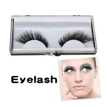 Natural Fake Black Long False Eyelashes Beauty Party 1 Pairs Eye Lashes