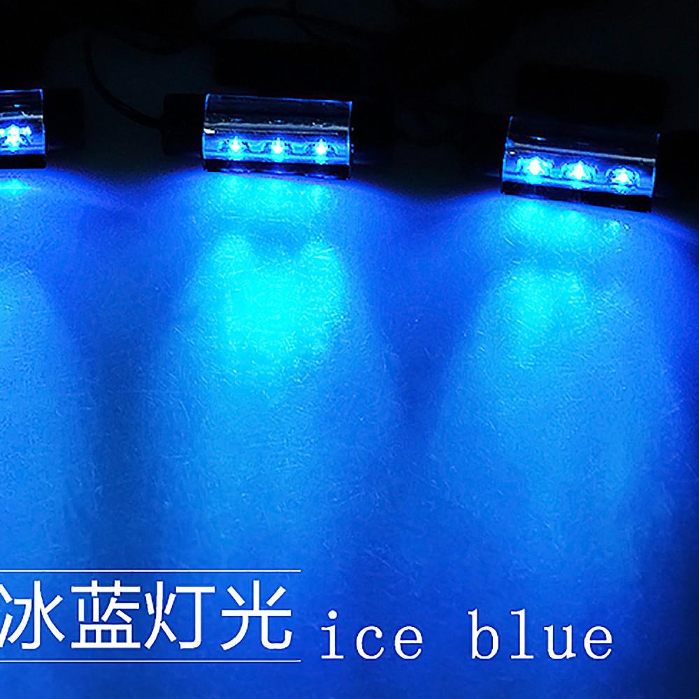 Car Styling 4x3led 12v4w Glow Car Interior Lighting Decorative 4in1