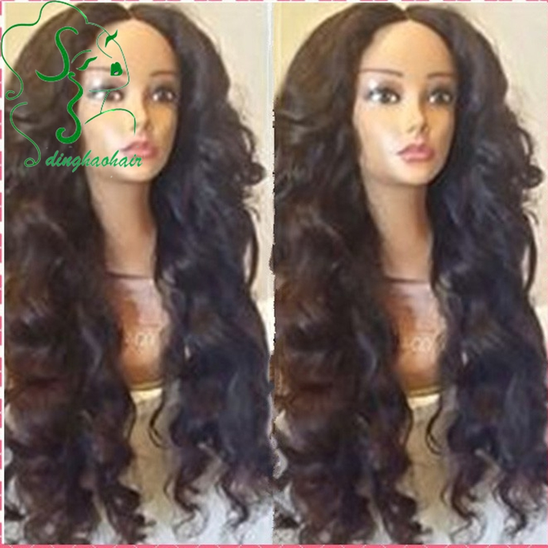 Heavy density Human hair natural hairline Brazilian Glueless silk top full lace wigs &amp; Body wave middle part lace front wigs<br><br>Aliexpress