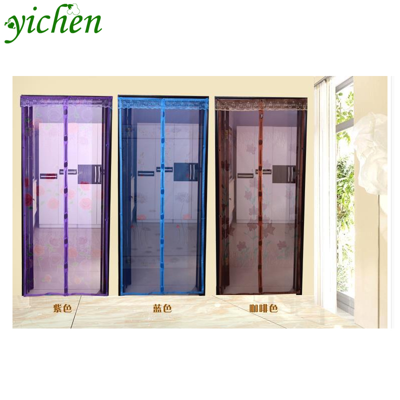 6 size Hot Sale Magnetic Stripe Summer Anti-Mosquito Curtains Encryption Mosquito Net On the Door Magnets Free Shipping ML001(China (Mainland))