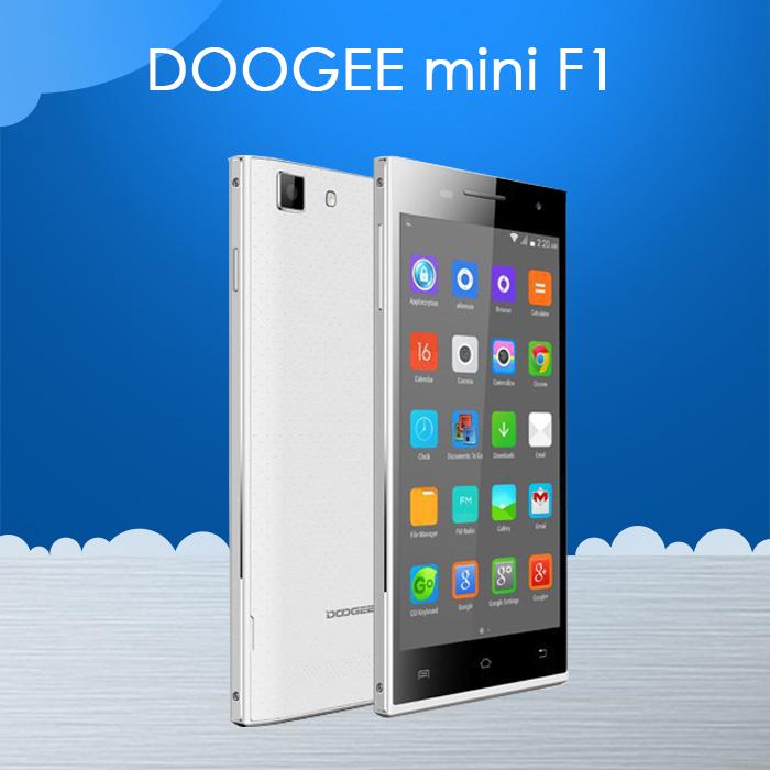 "In stock Original Doogee Turbo mini F1 4G FDD-LTE Cell Phone 4.5"" IPS MTK6732 64bit Quad Core 1GB RAM 8GB ROM 8MP Android 4.4(China (Mainland))"