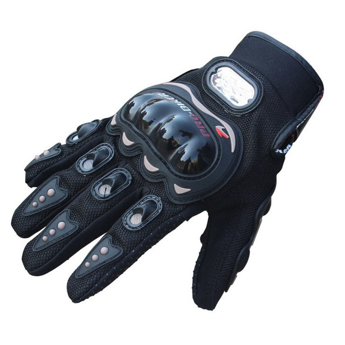 Hot Sale !! 1 Pair Black Sports Motorbike Motorcycle Gloves 3D-Dimensional Breathable Mesh Fabric Summer Gloves Popular Leather(China (Mainland))