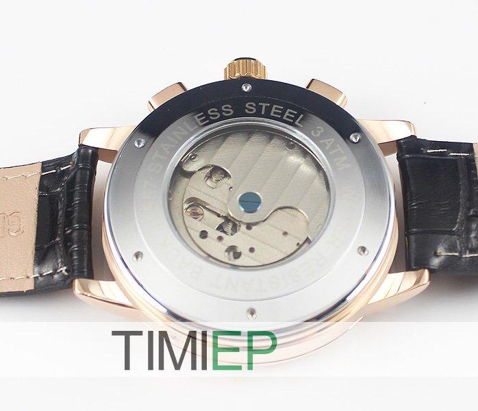 Green power Freeship Man Luxury Elegant Gold Plated Case Auto Mechanical Men's Wrist Watches Clock(China (Mainland))