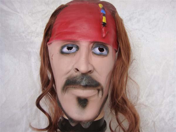 Sparrow Face Mask Captain Jack Sparrow Mask