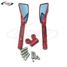 YOMT — Red CNC Rear View Mirrors For HONDA FORZA X /EX PS125 PS150 SH123 SH150 PCX APE