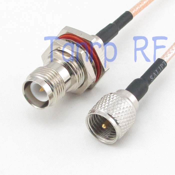 20inch mini UHF male plug to RP TNC female jack RF adapter connector 50CM Pigtail coaxial jumper cable RG316 extension cord<br><br>Aliexpress
