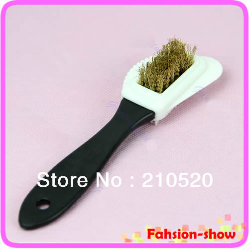 """Y92"""" Free Shipping 1PC New Black S Shape 3 Side Shoe Cleaning Brush Suede Nubuck Boot Shoes Cleaner(China (Mainland))"""