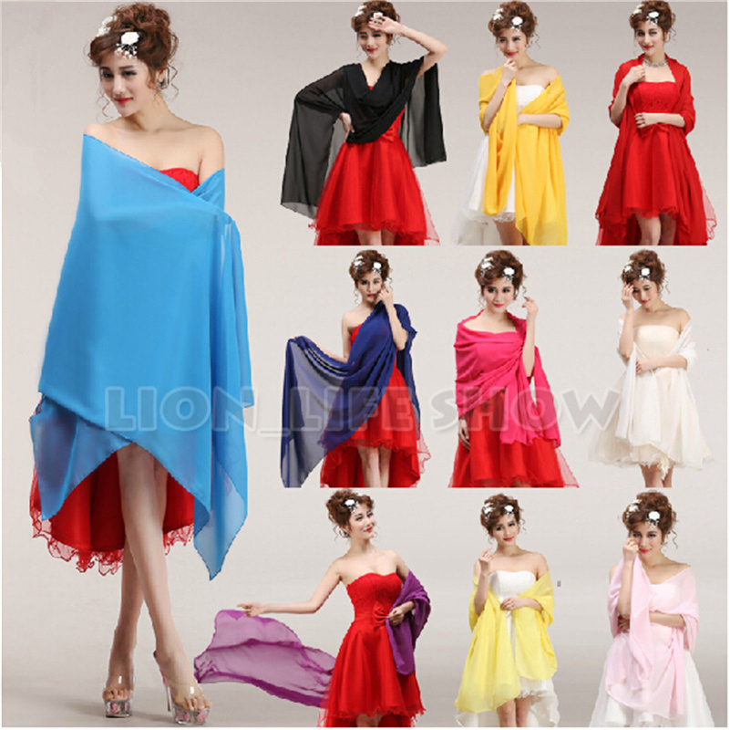 chiffon shawls scarves wrap for wedding bridesmaid formal