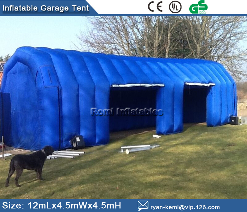 Free shipping Inflatable Garage tent inflatable building storage Inflatable car exhibition display advertising tent(China (Mainland))