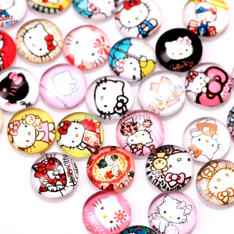 20pcs/lot New Items Cartoon Hello Kitty Crystal Floating Charms Fit Floating Living Locket Jewelry CMM#905(Free Shipping)(China (Mainland))