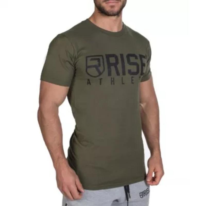 2016 Gym RISE Fitnesse T Shirt men Printing Bodybuilding Short sleeve poleras hombr moda Fashion O Neck camiseta masculina(China (Mainland))