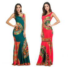 Buy Womens Plus Size Maxi Dresses Long Bodycon Summer Beach African Print Indian Dresses Bohemian Red O-Neck Fashion Female Vestidos for $27.36 in AliExpress store