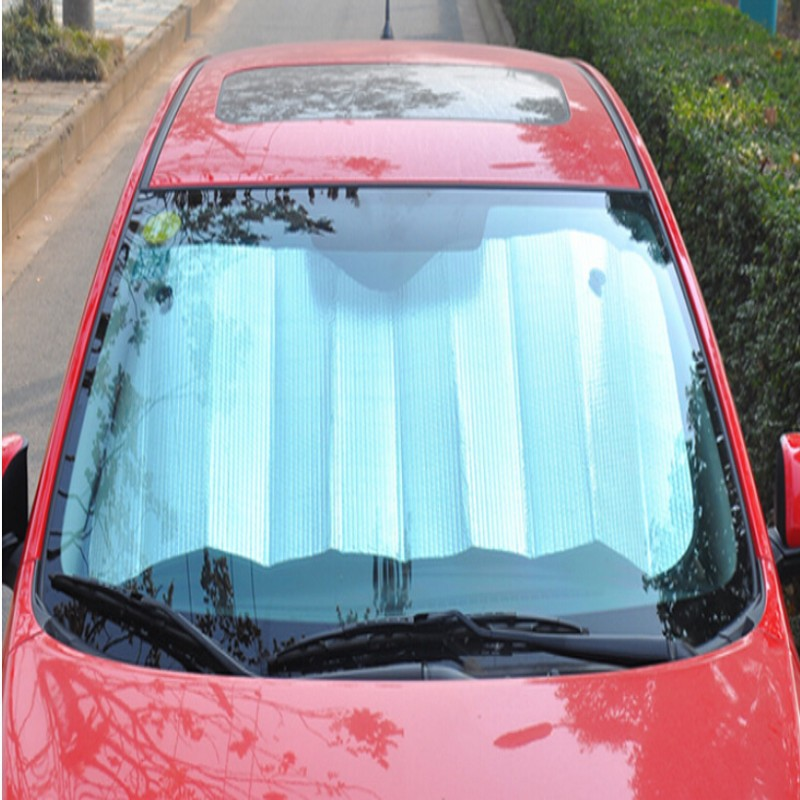 1pc Wholesale Foldable Car Auto Front Rear Windshield Reflective Heat Cover Outdoor Sunshade Sun Shade BZ671265(China (Mainland))