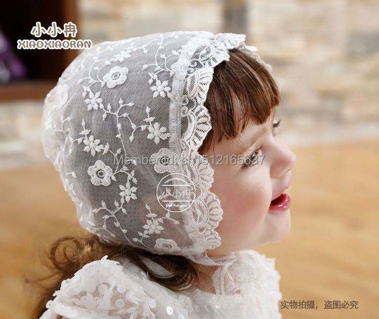 2016 New Quality Lace Cap Girls Dress Accessories Baby Bonnet Flower Hat Factory Price Direct Selling Customed - My Handmade store
