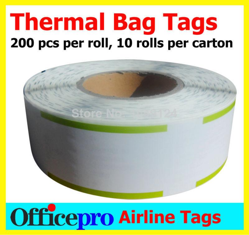 20000 pcs Synthetic Thermal Labels Baggage Tags ABT89YU089787(China (Mainland))