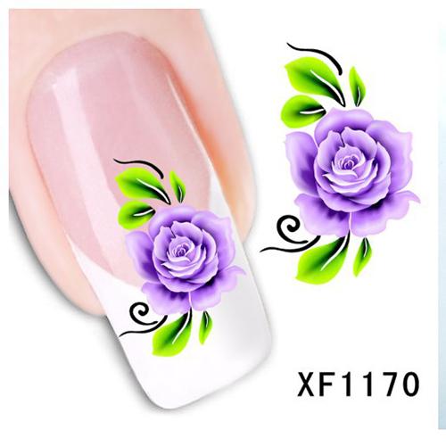 Women's Nail Foils Sticker Nail Art Stick Nail Patch Lady Nail Care Sticker XF1170(China (Mainland))