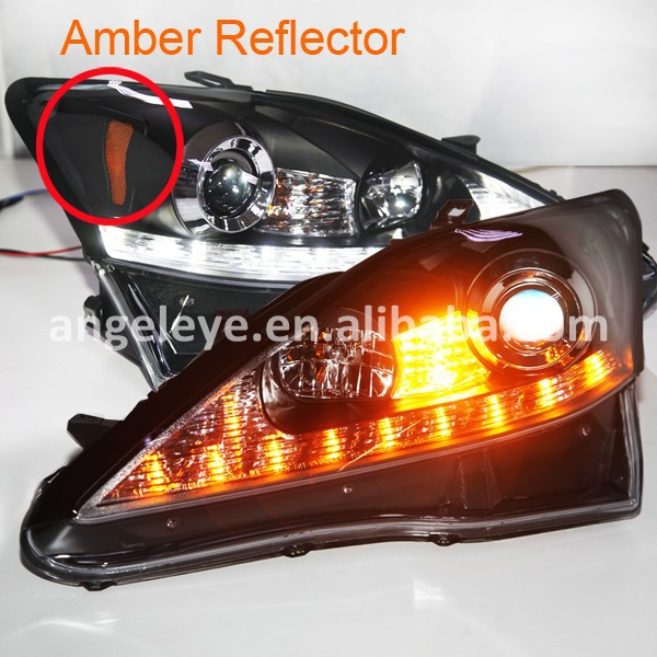 2006-2010 Year For Lexus IS250 Front Light with Projector Lens Black Housing Amber Reflector JY(China (Mainland))