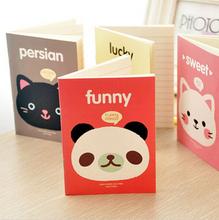 free shipping kawaii stationery cute cartoons animals head cover mini notebook notepad diary pocket exercise book K6541