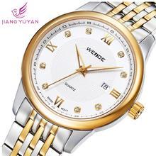 Caliente de moda WEIDE relojes de marca hombres casual sport cuarzo acero lleno relojes hombres reloj del calendario