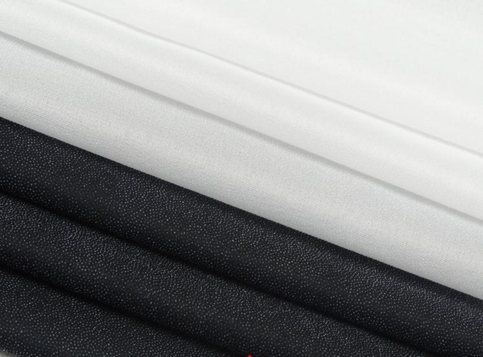 Fusible woven interlining single face glue cloth-lined soft silk thin fabric interfacing 50d(China (Mainland))