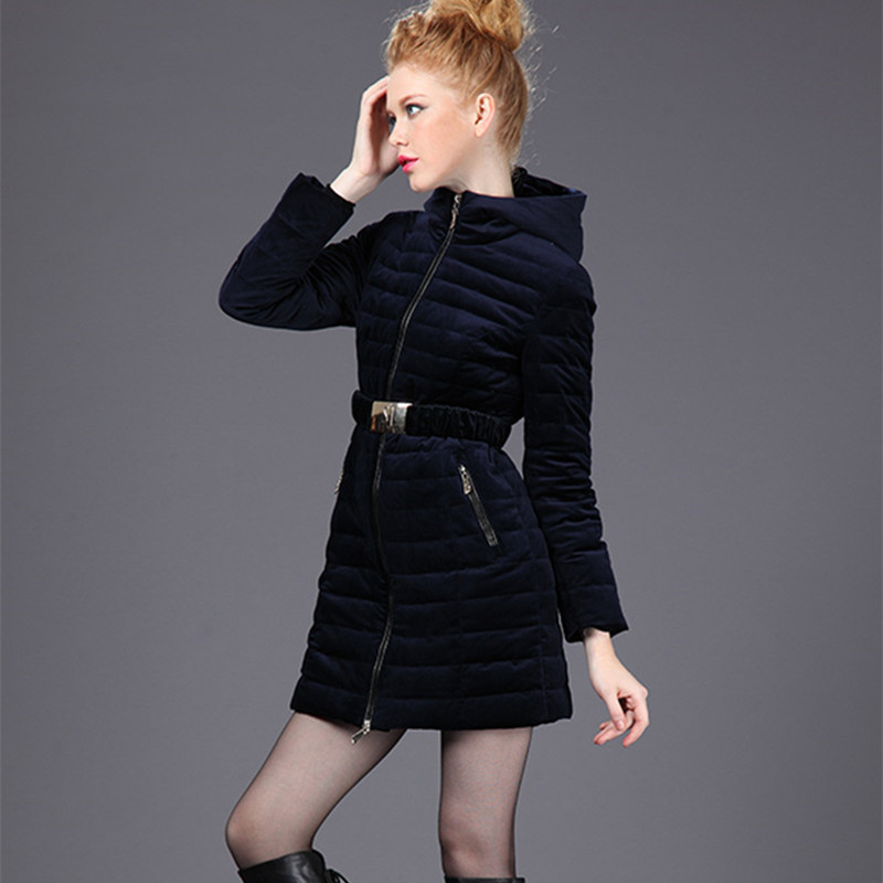 2015 New Hot Winter Thicken Warm Woman Down jacket Coat Parkas Outerwear Slim Hooded Luxury Mid
