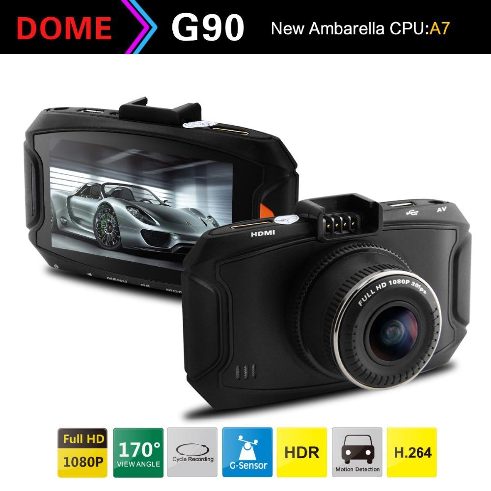 "Original Ambarella A7 Car DVR Video Recorder Full HD 1080P 2.7""LCD+G-Sensor+H.264 Video Recorder Dash Camera G90(China (Mainland))"