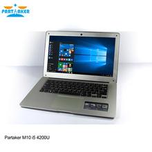 Partaker M10 i5 Computers Laptops Notebook Computer With core i5 14.1 Inch Intel Core I5 4200U 8000mah Battery4G RAM 128G SSD