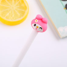 Милая розовая гелевая ручка с кроликом, школьная Ручка для студентов, 0,38 мм, черная нейтральная ручка с героями мультфильмов, Офисная Канцел...(China)
