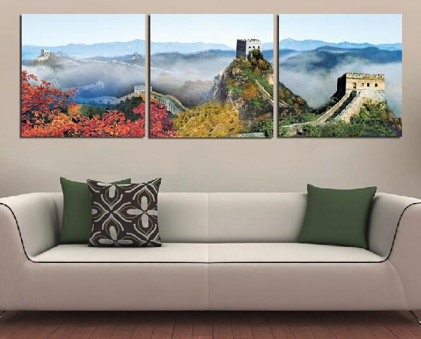 Modern Painting Decorative Art Picture Paint on Canvas Prints China's famous scenic spots and historical sites: the Great Wall(China (Mainland))