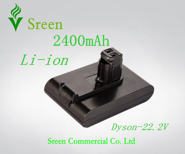 Free Shipping 2400mAh 22.2V Rechargeable Lithium Ion Replacement Battery for DYSON Vacuum Cleaner DC31 DC34 DC35 DC44 917083-01(China (Mainland))