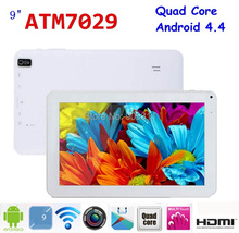 Factory! 9 inch Android 4.4 Quad Core tablet pc ATM 7029 8GB 1024 x600 Dual camera Bluetooth HDMI Flashlight tablet pc 9(China (Mainland))