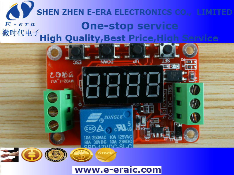 Digital LED display multi-function cycle auto-lock single 24V relay module delay module High level trigger(China (Mainland))