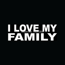 I LOVE MY FAMILY Sticker car Window Truck SUV Bumper Auto Door Vinyl Decal 8 Colors
