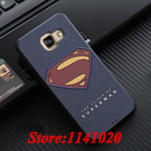 Superman Coque for Samsung Galaxy A3 2016 A310F A310 Phone Cases 3D Relief Soft Silicon Caso Captain America Vintage Peony Cover