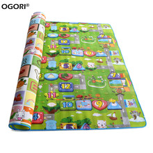 Baby Play Mat 200*180*0.5cm Crawling Mat Doulble-Side Puzzle Pad Rug Kids Educational Game Carpet(China (Mainland))