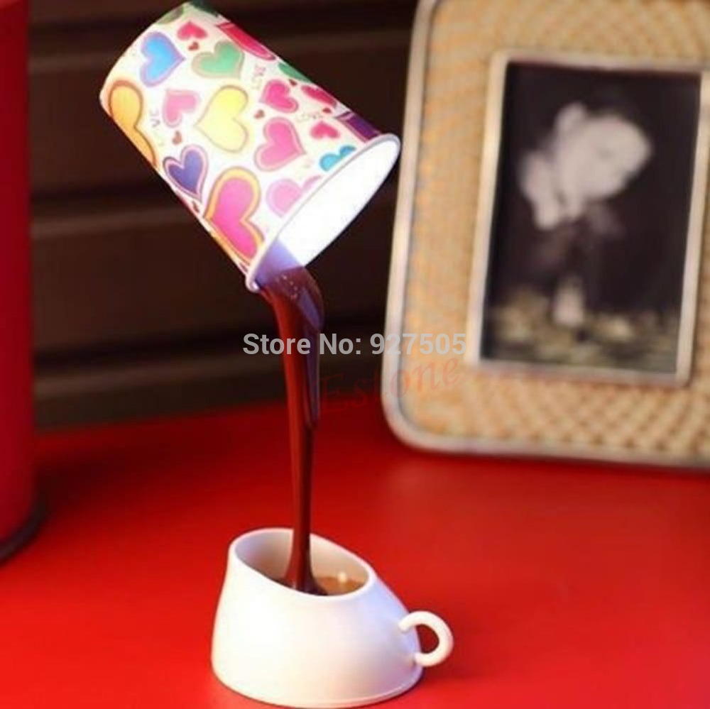 C18 Hot-selling 1 SET DIY LED Table Lamp Home Romantic Pour Coffee Usb Battery Night Light free shipping(China (Mainland))