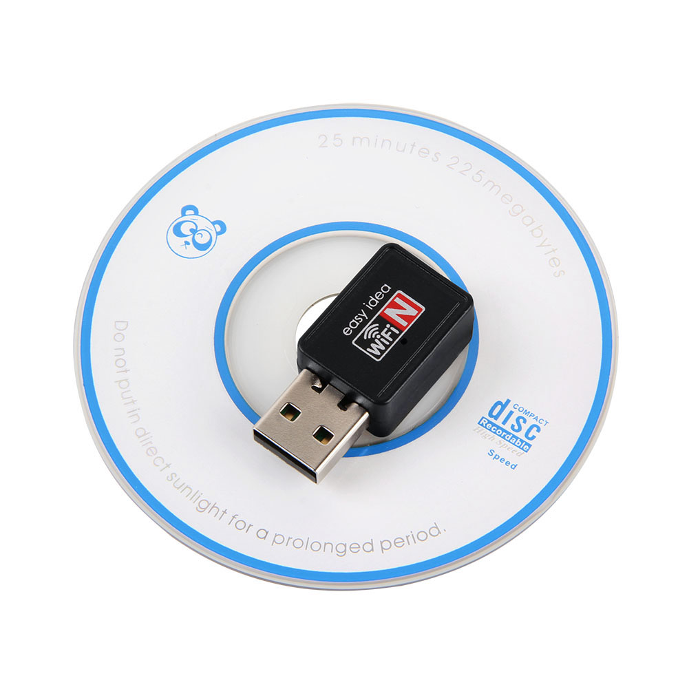 Wireless WiFi Adapter 150Mbps Wifi USB Dongle Mini Network Card 802.11b/n/g Adaptador Wi fi Receiver For Windows 50pcs/lot(China (Mainland))