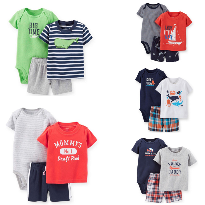 Carters Baby Boy Clothing Set Infant Clothing (1 Romper+1 Pants+1 T-shirts)