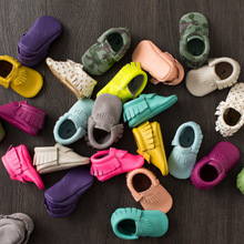 New 36-Colors Tassel Leather Baby Shoes Bling Moccasins Baby Toddler Shoes Unisex Newborn Baby Shoes First Walkers 2212