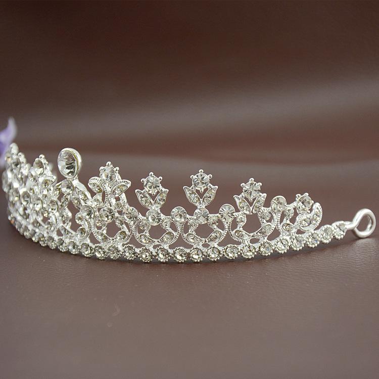 2015 Fashion Design Rhinestone Flower Crown Crystal Tiara Bride Headband Wedding Jewelry Bridal Hair Accessories Elgant Style(China (Mainland))