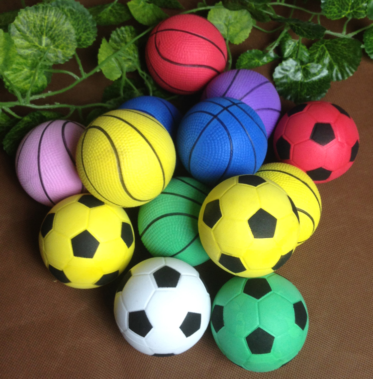 Small Toy Balls : Free shipping baby toy balls pu sponge football ball