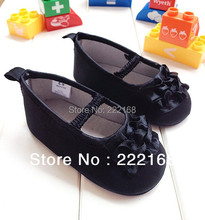 2016 Spring Summer Style Black Baby Shoes For Girls Princess Toddler Shoes Soft Slippers Infant Baptism Shoes(China (Mainland))