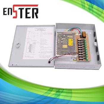 CCTV camera power supply  BOX,5 Amp 4 Channel CCTV Camera Cables,CCTV Camera Metal Boxed Power Supplies
